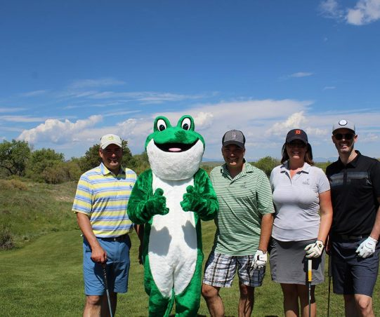 Golf Group Photo with Mascot