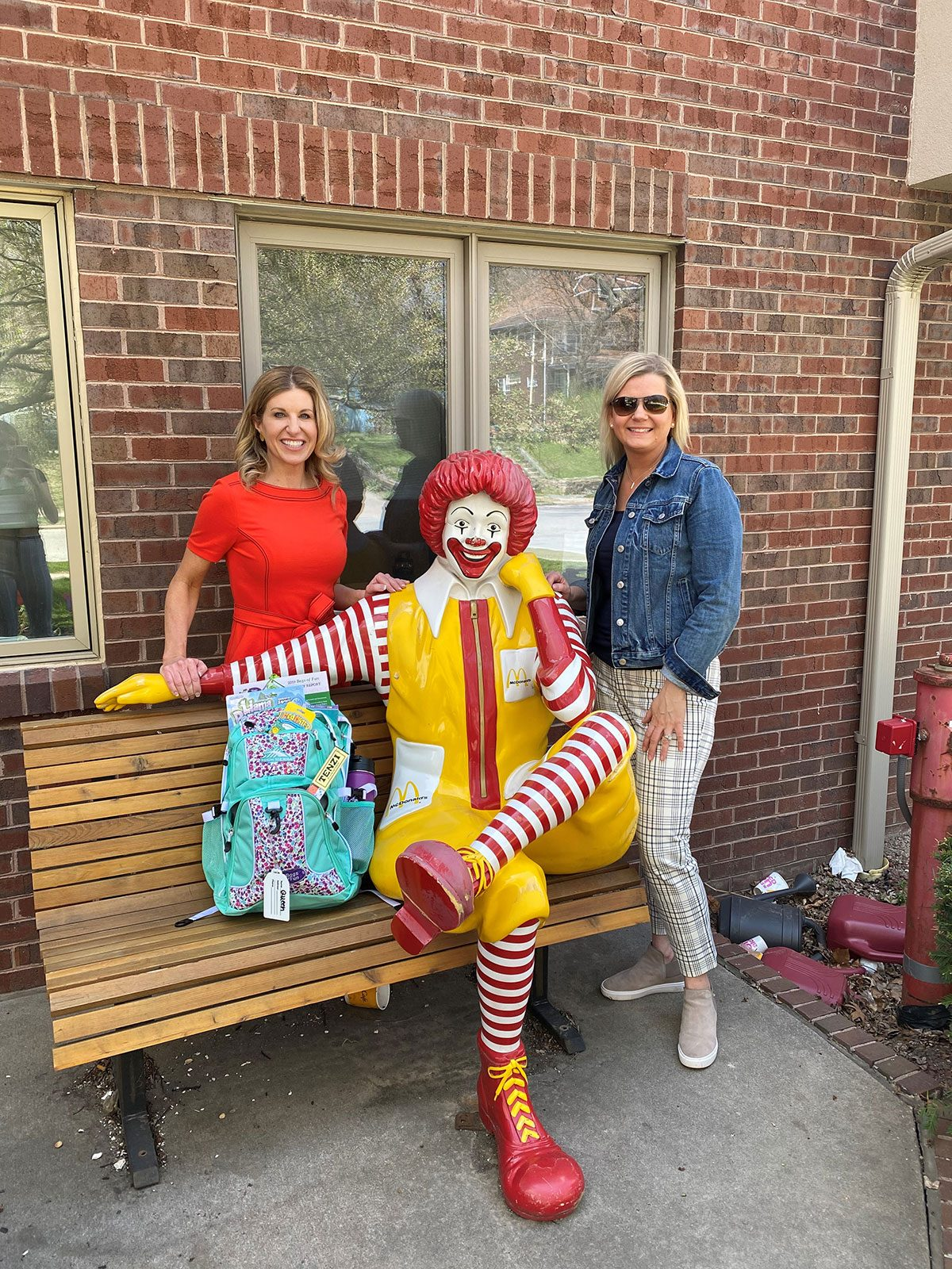Staff with Ronald McDonald Statue