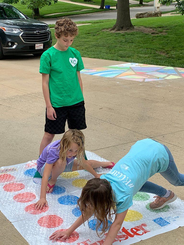 Fun Friday Kids Playing Twister
