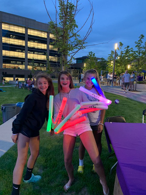 Kids with Light Sticks